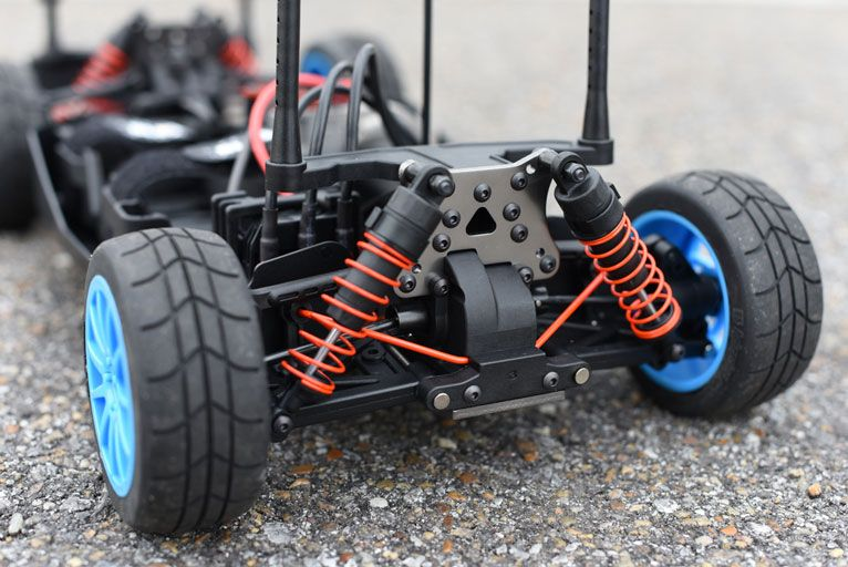 the rear end of a high quality rc car